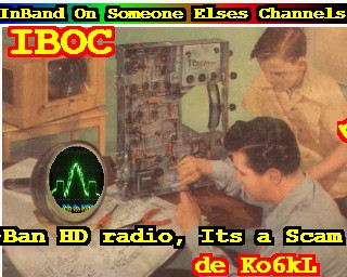 I do not like the NAB or Clear Channel and realy dislike HD radio broadcasters