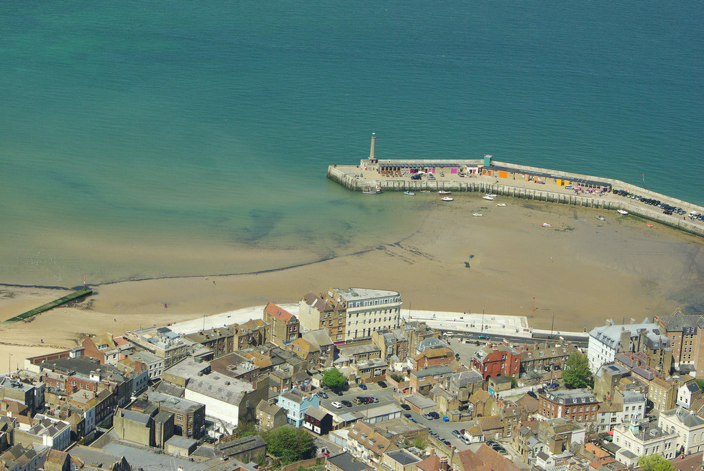Aerial picture of Margate Harbour