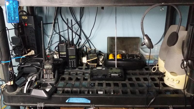 My hf station consists of an icom 706miig with a 120ft inverted l