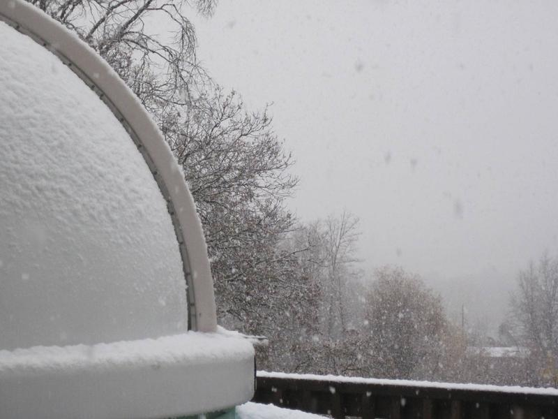Snow On my Observatory Dome