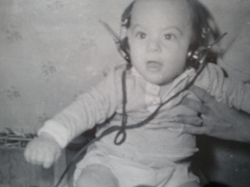 Me with my first headphones