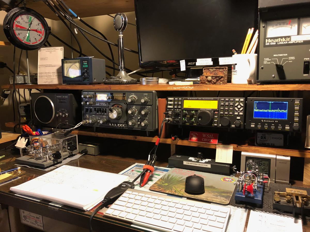 My operating desk, December of 2017