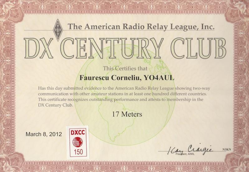DXCC 17 Meters