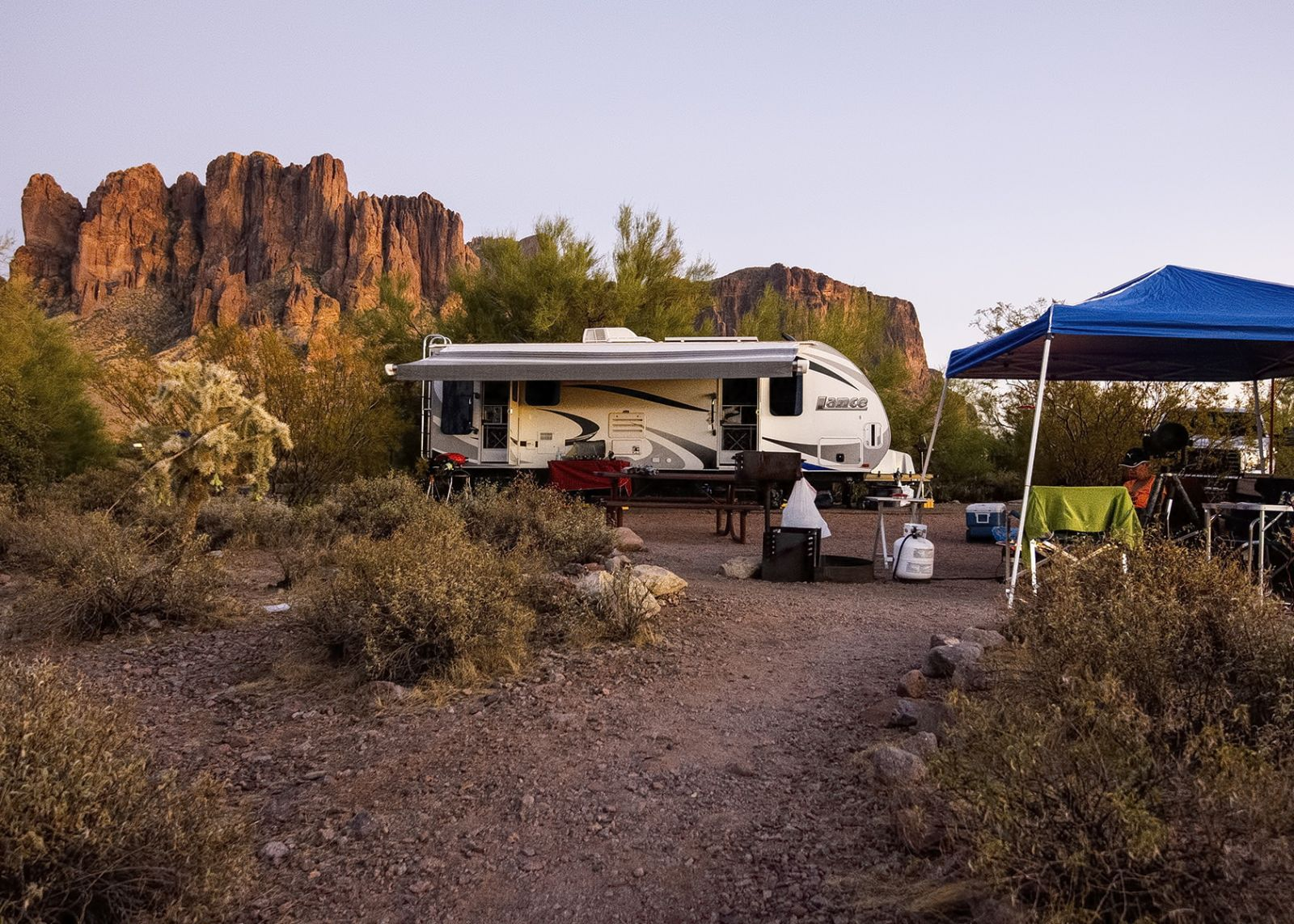Our campsite at Lost Dutchman State Park - site #39