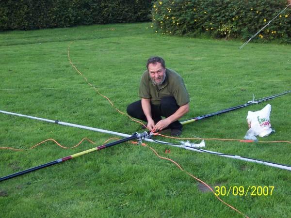 Antennenbau auf Aaroe
