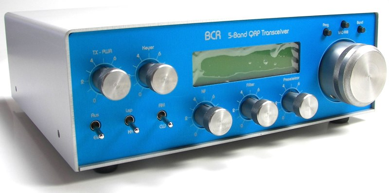 Blue Cool Radio 5-Band QRP Transceiver from DL6YYM