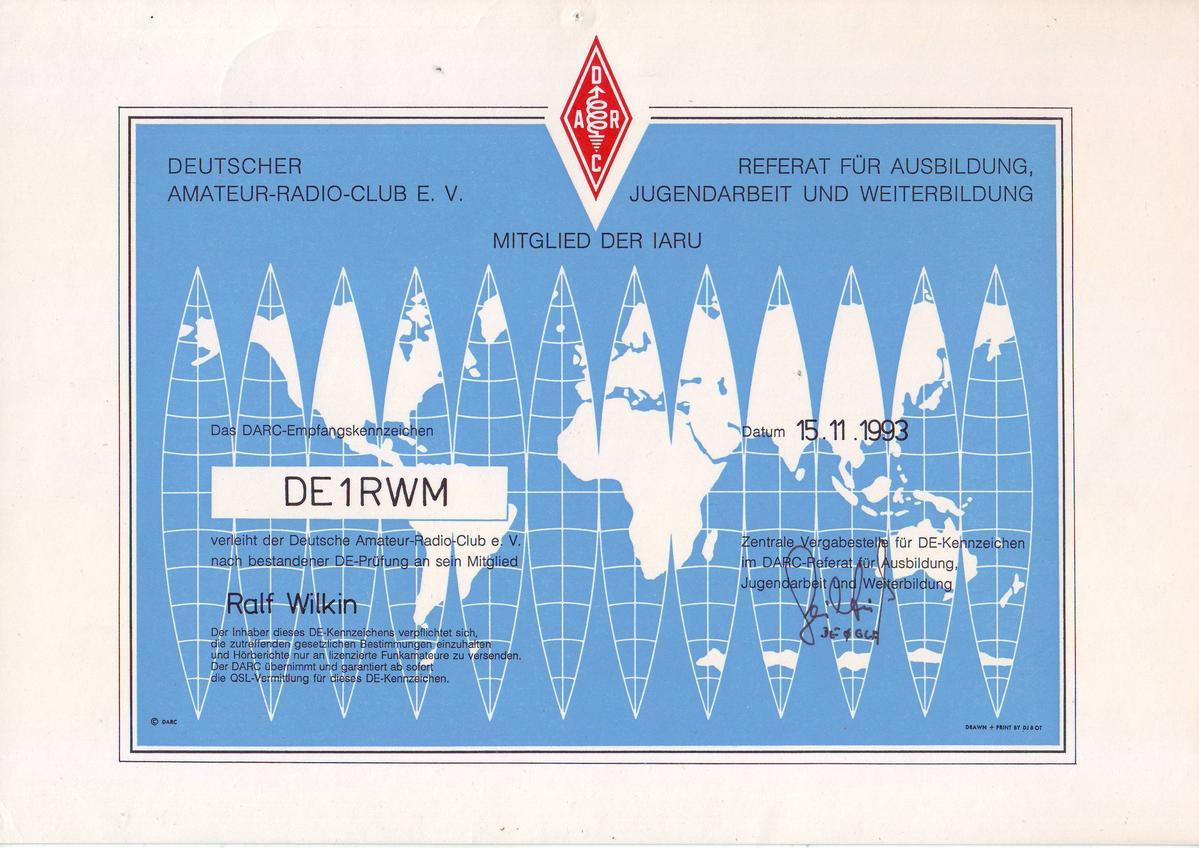 DO1RWM - Callsign Lookup by QRZ Ham Radio