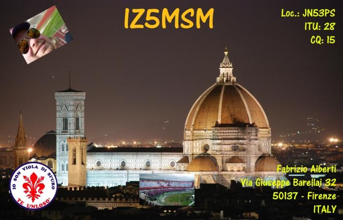 IZ5MSM QSL