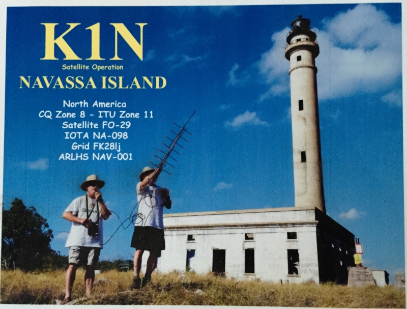 K1N satellite QSL pictured above is for one of only 29 satellite QSOs made by the DXpedition!