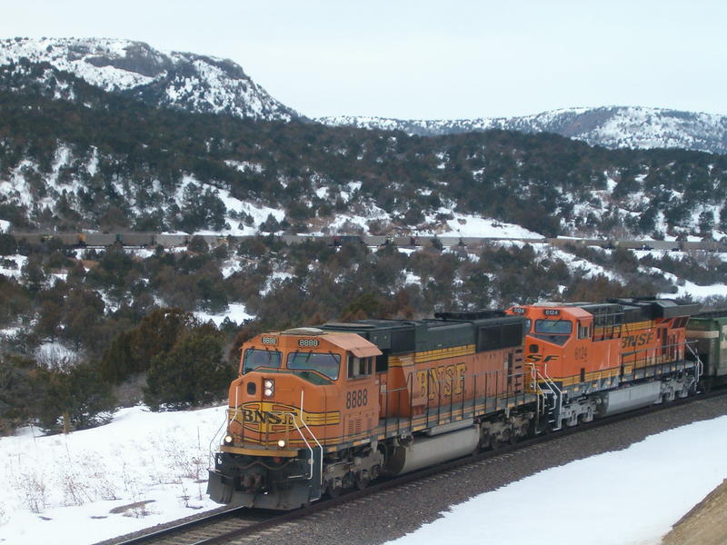 My train at Alps, New Mexico after a blizzard.
