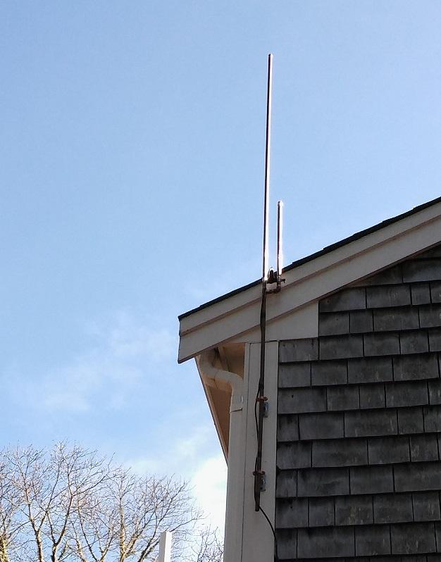 J-pole mounted on my house