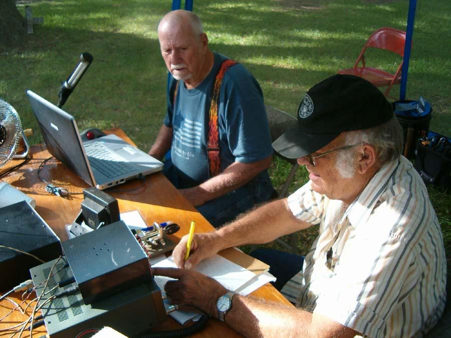 Dave, WA5DR and Gil, WA5SNL at the CW Station