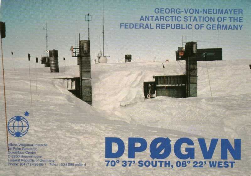 QSL card 5th overwintering 1985