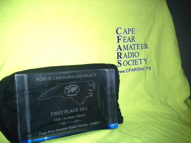 First place 2013 NC QSO Party