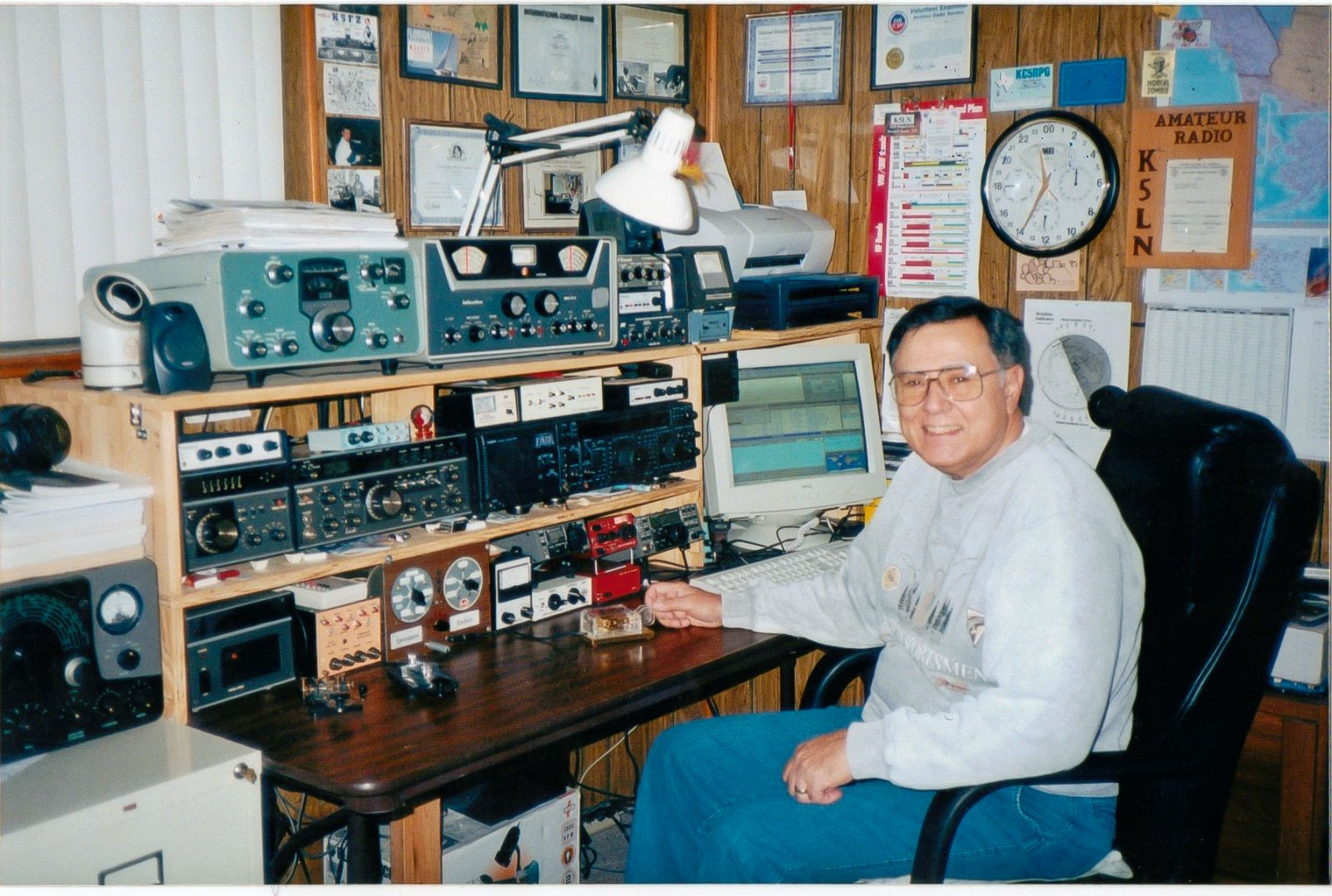 K5ln Callsign Lookup By Qrz Ham Radio Re Replacing The 3 Wire Power Cord From Old Heathkit Weather Station Lots Of Am Fm Broadcast Receivers People Who Found Out That I Repaired These Classics