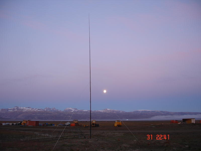 OX/OZ4UN 8 band vertical using 11m fishing pole 2012
