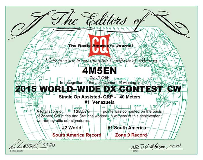 CQ World Wide DX CW Contest 2015,<br />