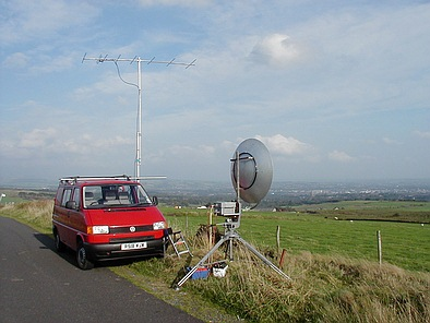 G3PHO/P on 10GHz at Winter Hill, IO83RO