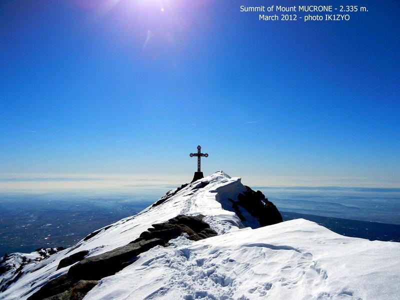 Vetta del Monte Mucrone. La montagna