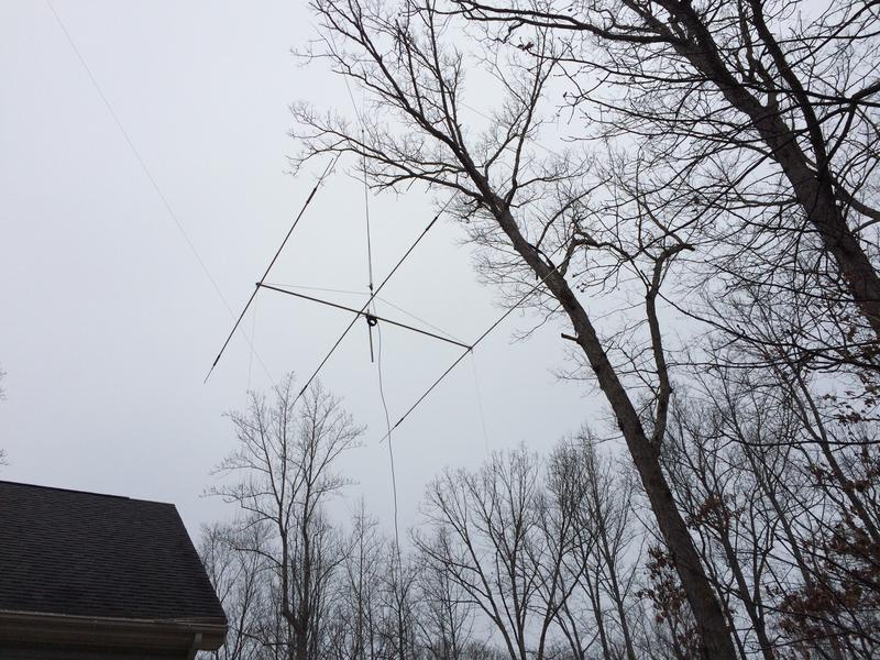 Cushcraft A3WS suspended in tree, replacing homebrew Moxon for 17M