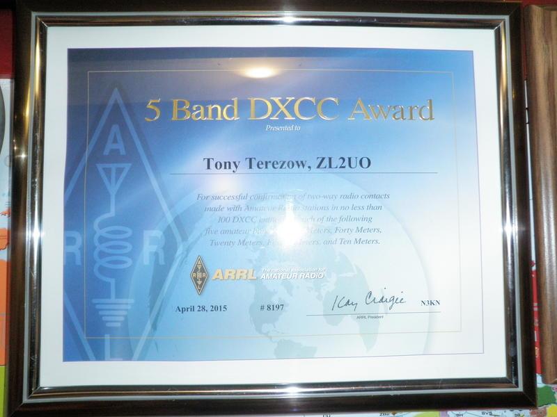 5 BAND DXCC AWARD