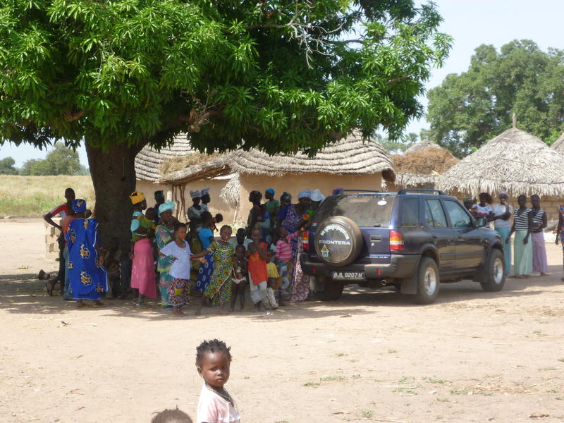 bringing goods to remote villages...