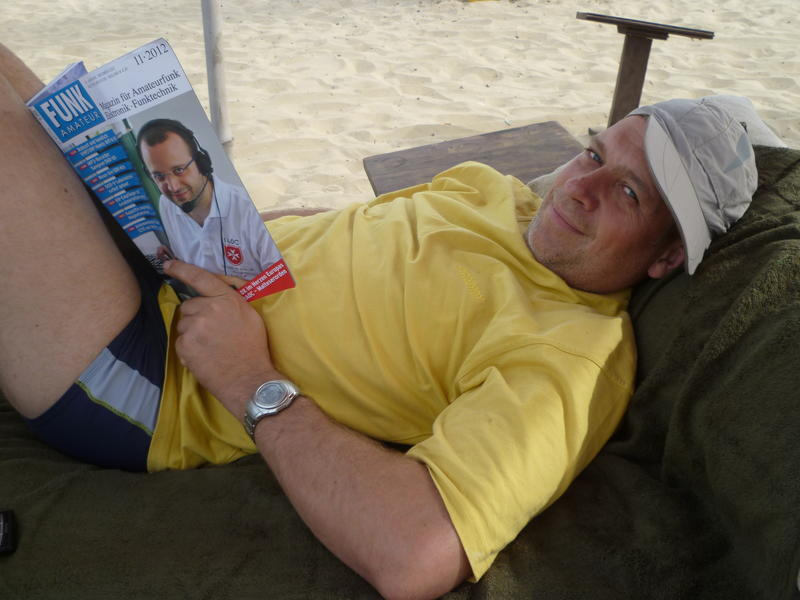 resting at the beach...