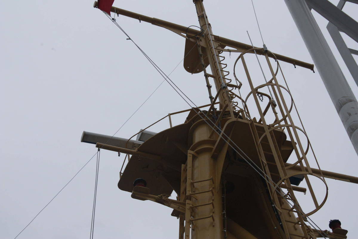 End Fed Antenna Top Mast connection at 46 FT
