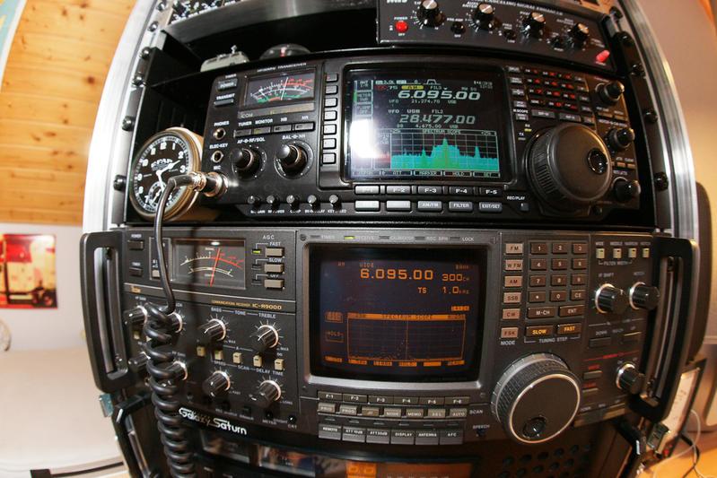Icom 756PRO3 and Icom R9000
