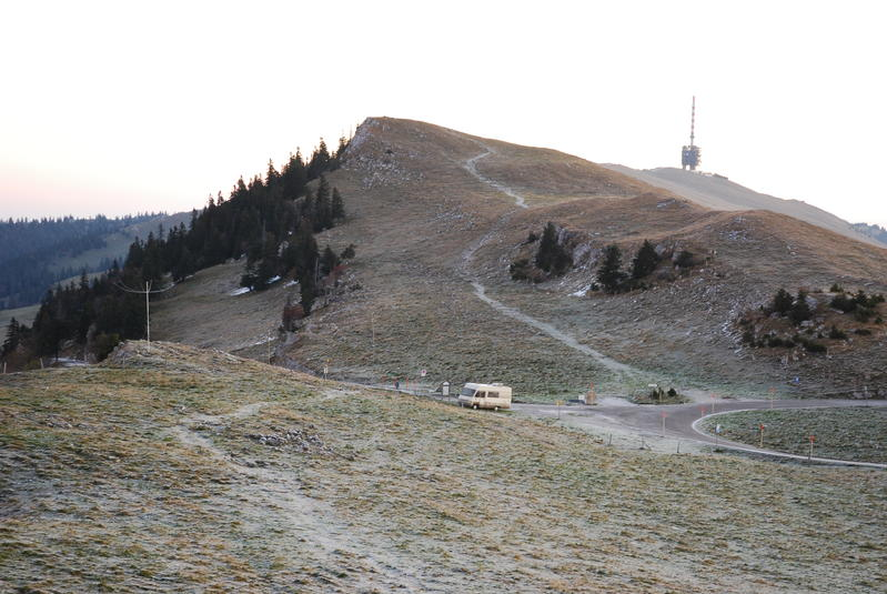 Our Van on top of Chasseral