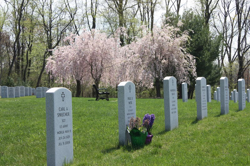 Spring at Indiantown Gap National Cemetery in Lebanon Cponty, PA where I serve with the honor guard.