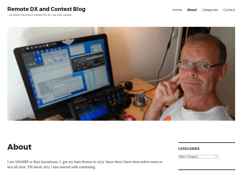 My new blog about remote dx- and contesting.