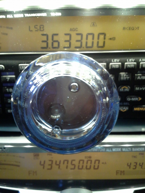 Glassknob on Kenwood TS-590S