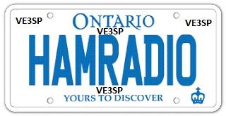 VE3SP personal vehicle ham radio license HAMradio