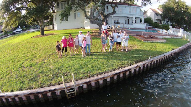 Family in Florida shot with DJI Phantom Drone