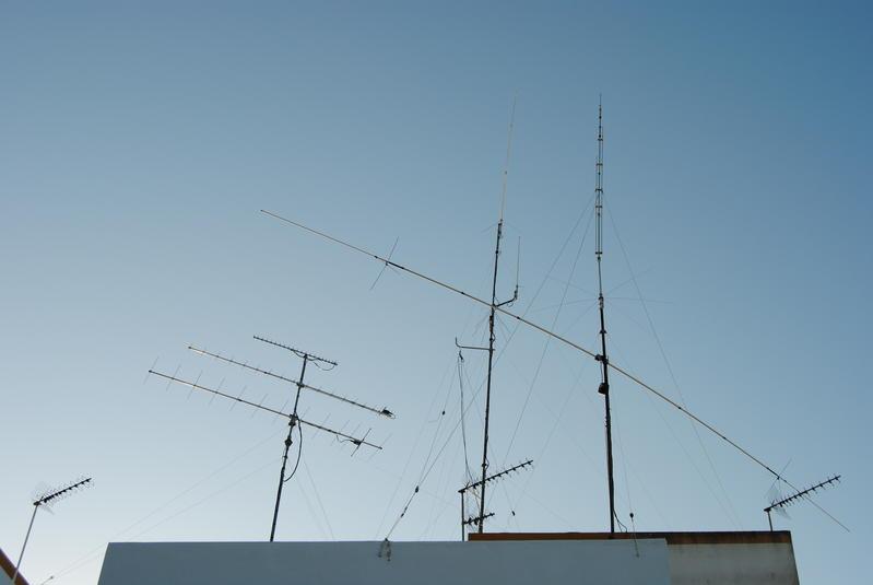 Mis antenas en el QTH