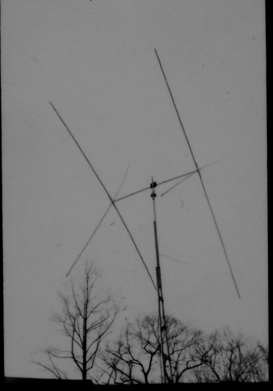 This is my first directional antenna. It is a two element 20 meter quad on a 10 foot boom.