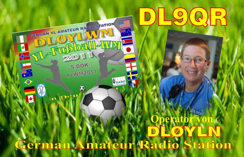 Spezial QSL from the woman soccer YLWM 2011