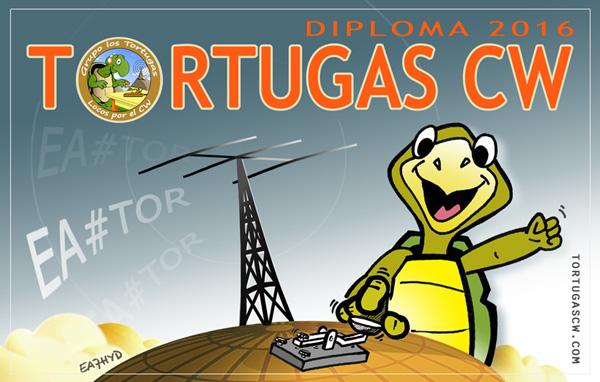 best qsl tortugas cw ea7hyd morse radio codigo ham key diseño dibujo diploma