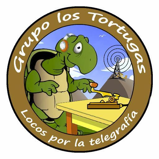 tortugas cw ea7hyd morse radio codigo ham key qsl diseño dibujo diploma