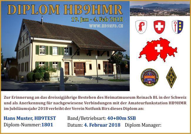 Diplom HB9HMR