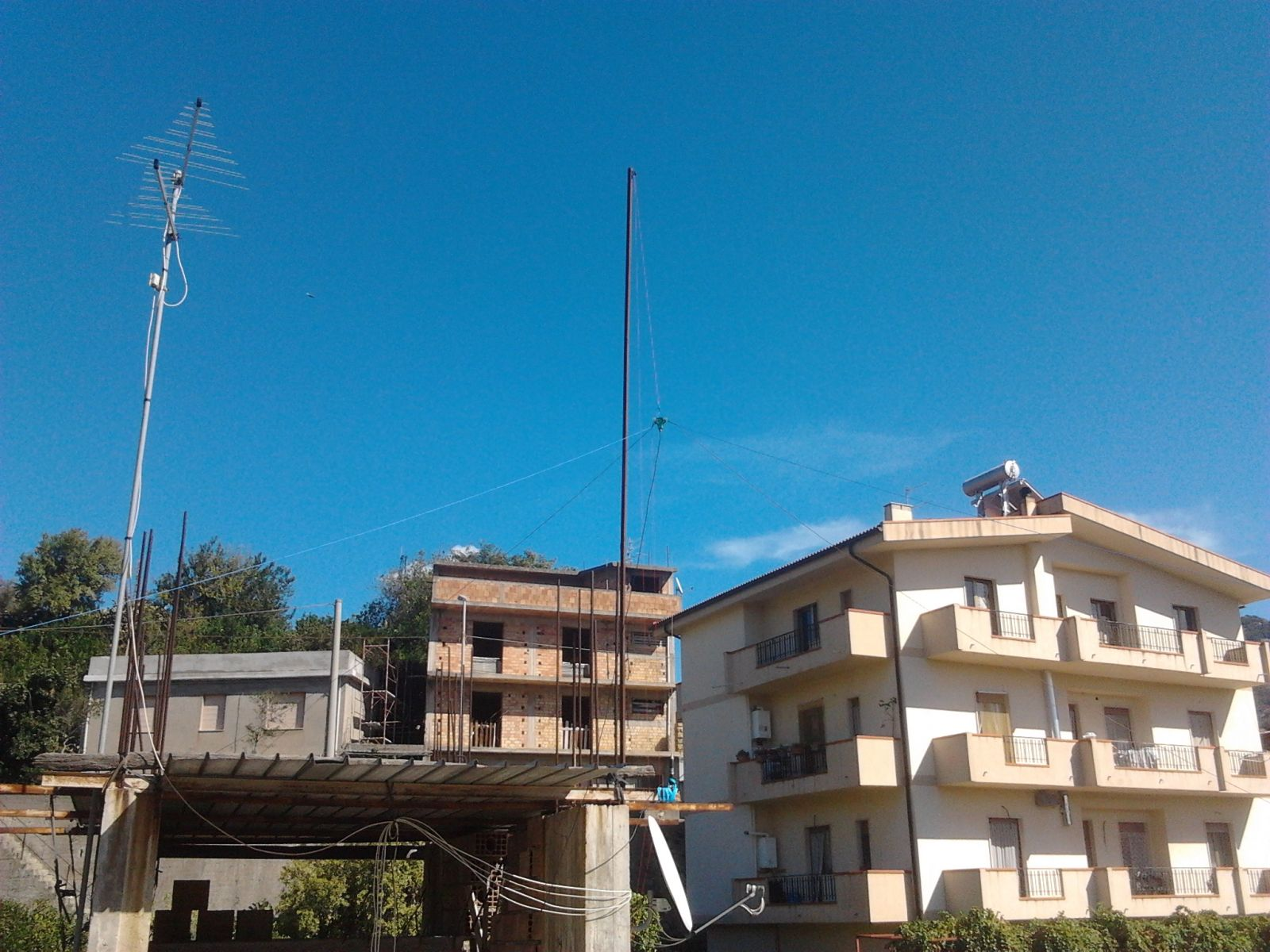 antenna inverted v dipole for 40 and 20 m