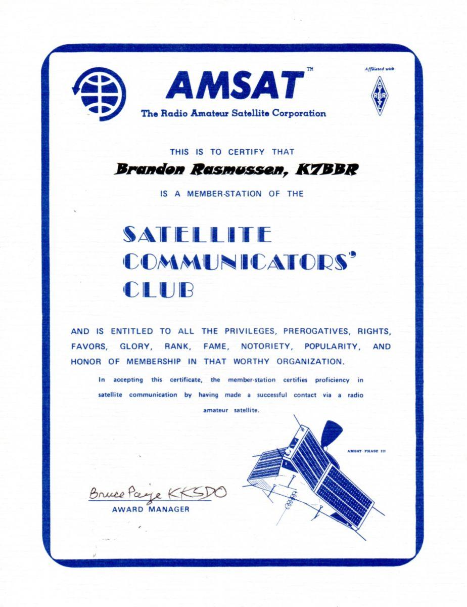 AMSAT Satellite Communicators' Club