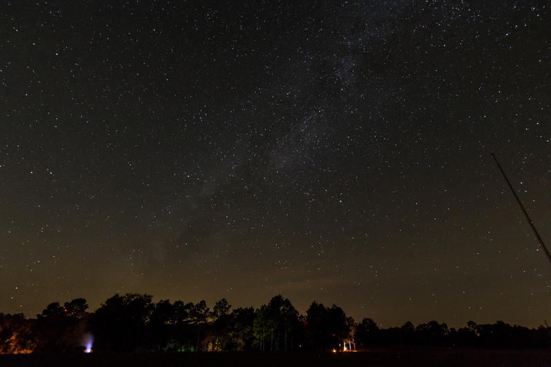 Night Sky over Seacrest Wolf Preserve near Chipley, FL.