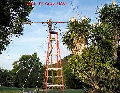 May, 2014 NZ5N and N8PR in St. Croix, USVI for an EME DX-pedition on 2 meters useing the call N4M.  EME QSLs go to N8PR   Total - 210 QSOs,  42 DXCC Countries,  156 VUCC, WORKED ALL CONTINENTS (except Antarctica)