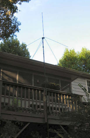 6-m vertical antenna by deck