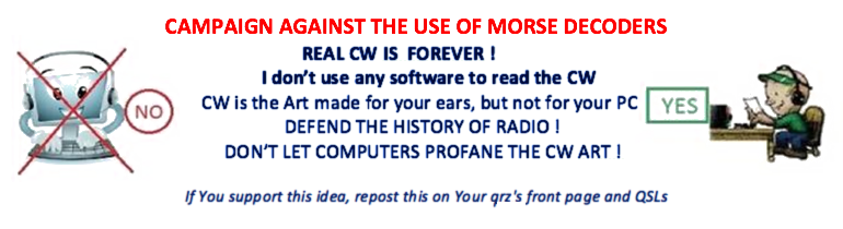 Don't let computers profane the CW Art!
