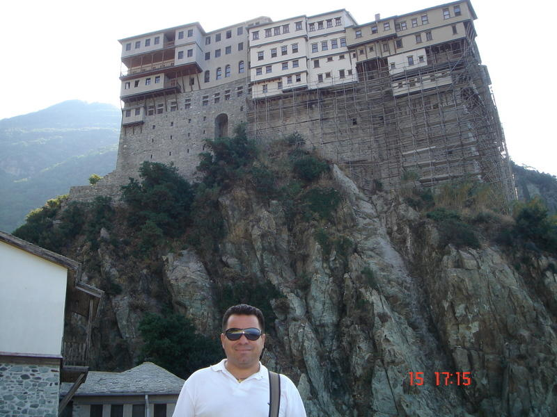 Here i am at Mt Athos and a big thank you to my friend Monk Apollo