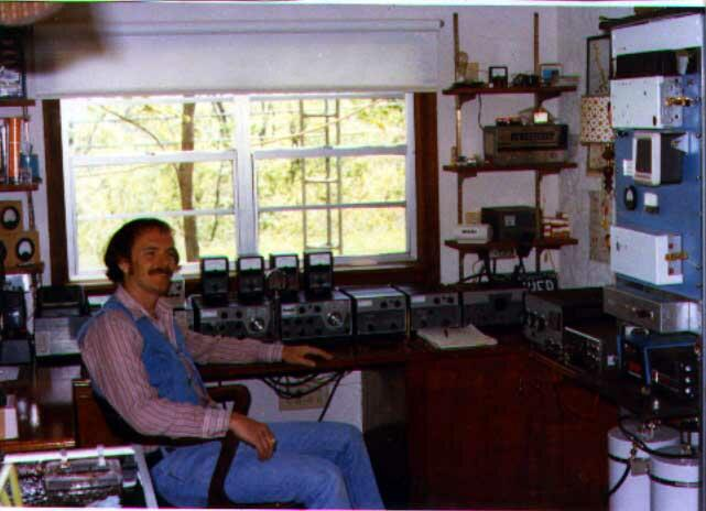 Me and my Drake station and 2 meter repeater 1978.