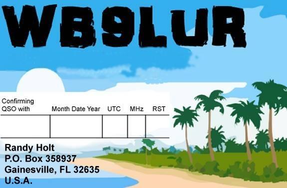 WB9LUR QSL card